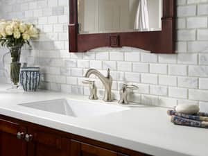 Pfister Arlington™ 1.2 gpm 3-Hole Widespread Lavatory Faucet with Double Lever Handle PLF049AR