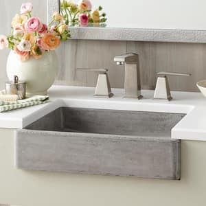 Native Trails Kitchen & Bath Nipomo 1-Bowl Concrete Apron Front and Undermount and Vessel Lavatory Sink NNSL1915