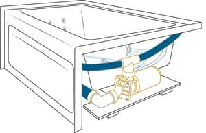 Jacuzzi Linea® 60 x 30 in. 8-Jet Acrylic Rectangle Drop-In or Skirted Whirlpool Bathtub with Right Drain and J2 Basic Control JLNS6030WRL2XX