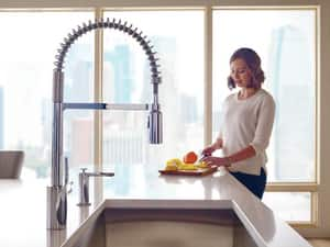 Moen Align™ 1.5 gpm Pre-Rinse Spring Pull-Down Kitchen Faucet with Single Lever Handle M5923