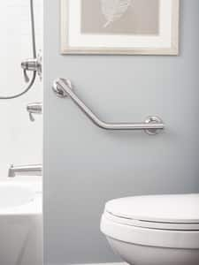 Moen 16 in. Angle Grab Bar in Brushed Nickel CSIRA8716D1GBN