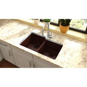 Elkay Quartz Classic 9-1/2 in. 2-Bowl Undermount Kitchen Sink EELGU250R0