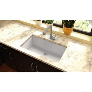 Elkay Quartz Classic 33 x 18 in. No-Hole Single Bowl Undermount Kitchen Sink EELGRU133220