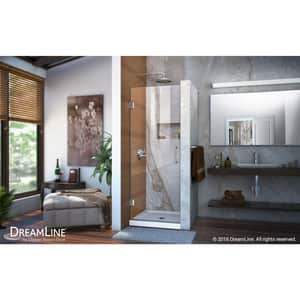 Dreamline® Unidoor 25 in. Frameless Hinged Shower Door with Clear Glass DSHDR20257210F