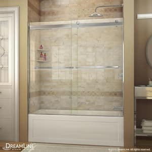 Bath Authority Essence 60 in. Frameless Bypass Tub and Shower Door with Clear Tempered Glass DSHDR6360600