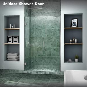 Bath Authority Unidoor 47 in. Frameless Hinged Shower Door with Tempered Glass DSHDR20467210