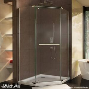Dreamline® Prism 38-1/8 in. Frameless Pivot Shower Enclosure with Tempered Glass DSHEN2138380