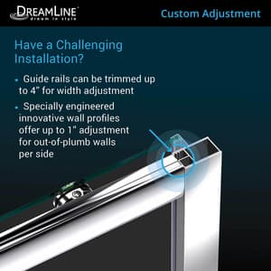 Dreamline® Infinity-Z 48 in. Frameless Sliding Shower Door with Frosted Glass DSHDR0948720FR