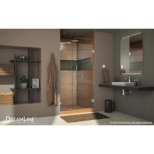 Dreamline® Unidoor Lux 40 in. Frameless Hinged Shower Door with Clear Glass DSHDR23407210