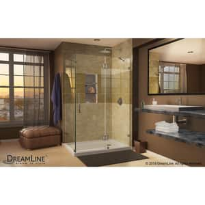 Dreamline® Quatra Lux 34-5/16 in. Frameless Hinged Shower Enclosure with Tempered Glass DSHEN1334340