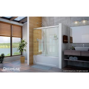 Dreamline® Charisma 60 in. Frameless Bypass Sliding Tub and Shower Door with Clear Glass DSHDR1360580