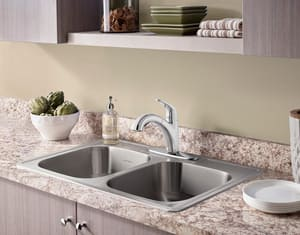 Colony® Pro Single Lever Handle Kitchen Faucet with Pull-Out Spray A7074100