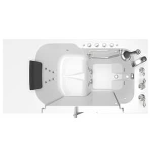 American Standard 109 Premium Series 52 x 32 in. 38-Jet Gelcoat Rectangle Built-In Bathtub with Right Drain A3252OD109CR