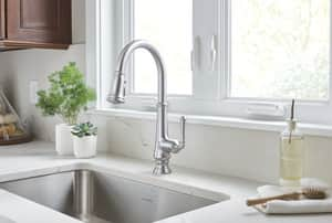 American Standard Delancey™ 16-11/16 in. 1 or 3-Hole Pull-Down Kitchen Sink Faucet with Single Lever Handle A4279300