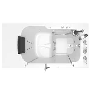 American Standard 109 Premium Series 52 x 32 in. 12-Jet Gelcoat Rectangle Built-In Bathtub with Right Drain A3252OD109WR