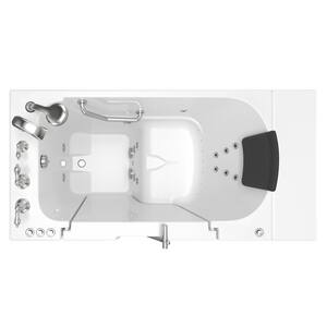 American Standard 109 Premium Series 52 x 30 in. 38-Jet Gelcoat and Fiberglass Rectangle Built-In 3-Wall Alcove Bathtub with Left Drain A3052OD109CL