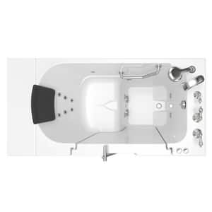 American Standard 109 Premium Series 52 x 30 in. 12-Jet Gelcoat and Fiberglass Rectangle Built-In 3-Wall Alcove Bathtub with Right Drain A3052OD109WR
