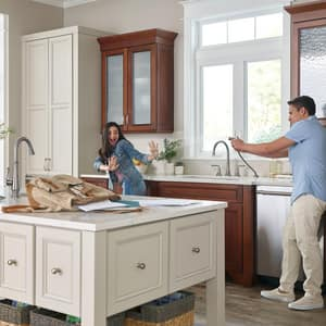 American Standard Delancey™ 13-15/16 in. 3-Hole Widespread Kitchen Sink Faucet with Double Lever Handle A4279701