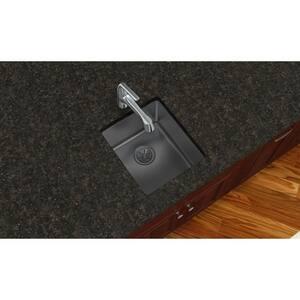 Elkay Crosstown™ 16 ga 1-Bowl Undermount Stainless Steel Kitchen Sink in Polished Satin EEFRU131610T