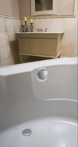 Geberit TurnControl™ 17 - 24 in. Cable- Operated Bath Waste and Overflow Bathtub Drain G150156