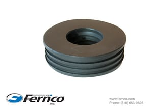 Fernco Schedule 40 Cast Iron Service Weight Hub x Cast Iron Service Weight Donut F44U5