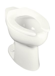 Kohler Highcliff™ Elongated Floor Mount Toilet Bowl with Rear Inlet and Bedpan Lugs K4367-L