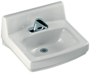 Kohler Greenwich™ 20 x 18 in. Wall Mount Right Hand Vitreous China Lavatory 4 in. Centerset Faucet Holes White K2032-R-0