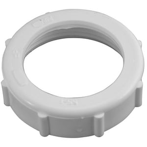 Keeney 1-1/4 x 1-1/4 PVC Slip-Joint Nut White KEE56W