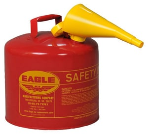 Eagle Manufacturing Type I Metal Safety Gas Can with Funnel EUI0FS