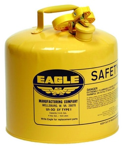 Eagle Manufacturing 5 gal. Type I Metal Safety Gas Can in Yellow EUI50SY