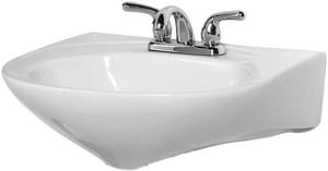 Briggs Plumbing Products Pompano Pedestal Lavatory Sink with 4 in. Centerset Faucet B6624WH