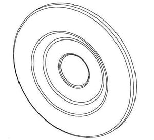 Pfister Round Wall Flange Polished Chrome P960045A