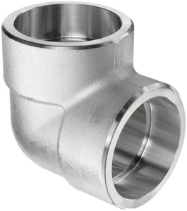 Socket 3000# 316L Stainless Steel 90 Degree Elbow IS6L3S9
