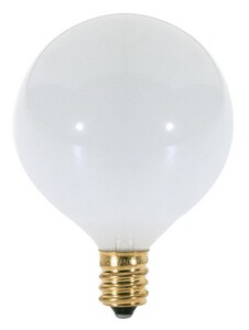 Satco 40W G16 1/2 Dimmable Incandescent Light Bulb with Candelabra Base SS3261