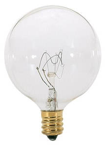 Satco 40W G16 1/2 Dimmable Incandescent Light Bulb with Candelabra Base SS3823
