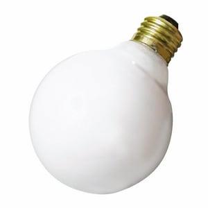 Satco 130 V Medium Lamp in White SA3643
