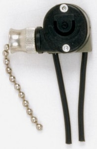 Satco Pulley Chain Canopy Switch in Nickel S90505