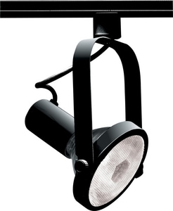 Nuvo Lighting 150 W 1-Light PAR38 Gimbal Ring Track Lighting Head in Black NTH225