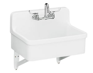 Kohler Gilford™ 30 x 22 in. Vitreous China Scrub Laundry Sink White K12787-0
