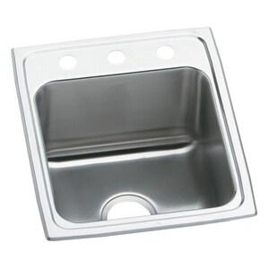 Elkay Gourmet® 1-Bowl Topmount Kitchen Sink with Center Drain EDLR172210