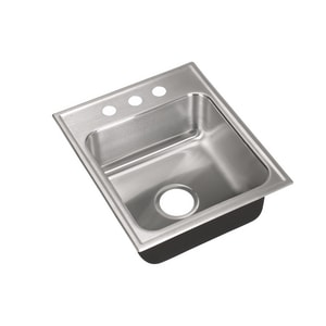Just Manufacturing Stylist Group 3-Hole Single Bowl Stainless Steel Kitchen Sink in Brushed Steel JSL1815A3