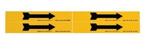 Brady Worldwide Single Arrow Pipe Marker in Black|Yellow B93242