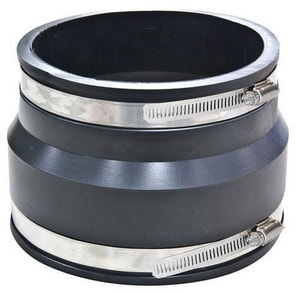 Fernco Clay x Asbestos Cement Fiber and Ductile Iron Flexible Coupling F1003SR