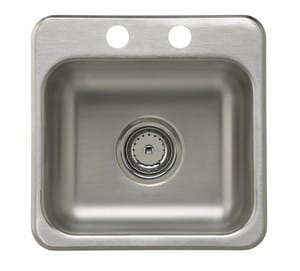 Sterling Plumbing Group SilentShield 15 X 15 In. Bar Sink With Strainer SB155B2