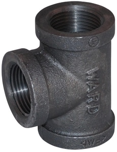 Ward Threaded 150# Black Malleable Iron Reducing Tee BTKGG