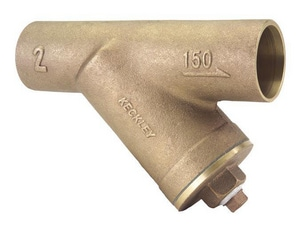 O.C. Keckley 150# Bronze Solder Joint x Threaded Wye Strainer KE150