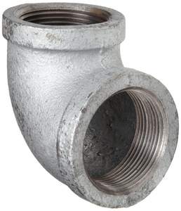 2-1/2 x 2 in. Threaded 150# Galvanized Malleable Iron 90 Degree Elbow IG9LK at Pollardwater