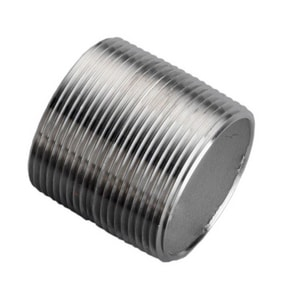 Merit Brass Close Schedule 80 316L Stainless Steel Seamless Nipple Threaded Both Ends DS86SNBCL