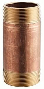 1-1/4 x 24 in. MNPT Global Brass Nipple GBRNH24 at Pollardwater