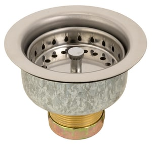 Watts Brass & Tubular Duo Sink Strainer in Stainless Steel W652003